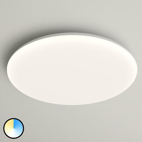 LED-taklampe Azra, hvit, rund IP54, Ø 40 cm