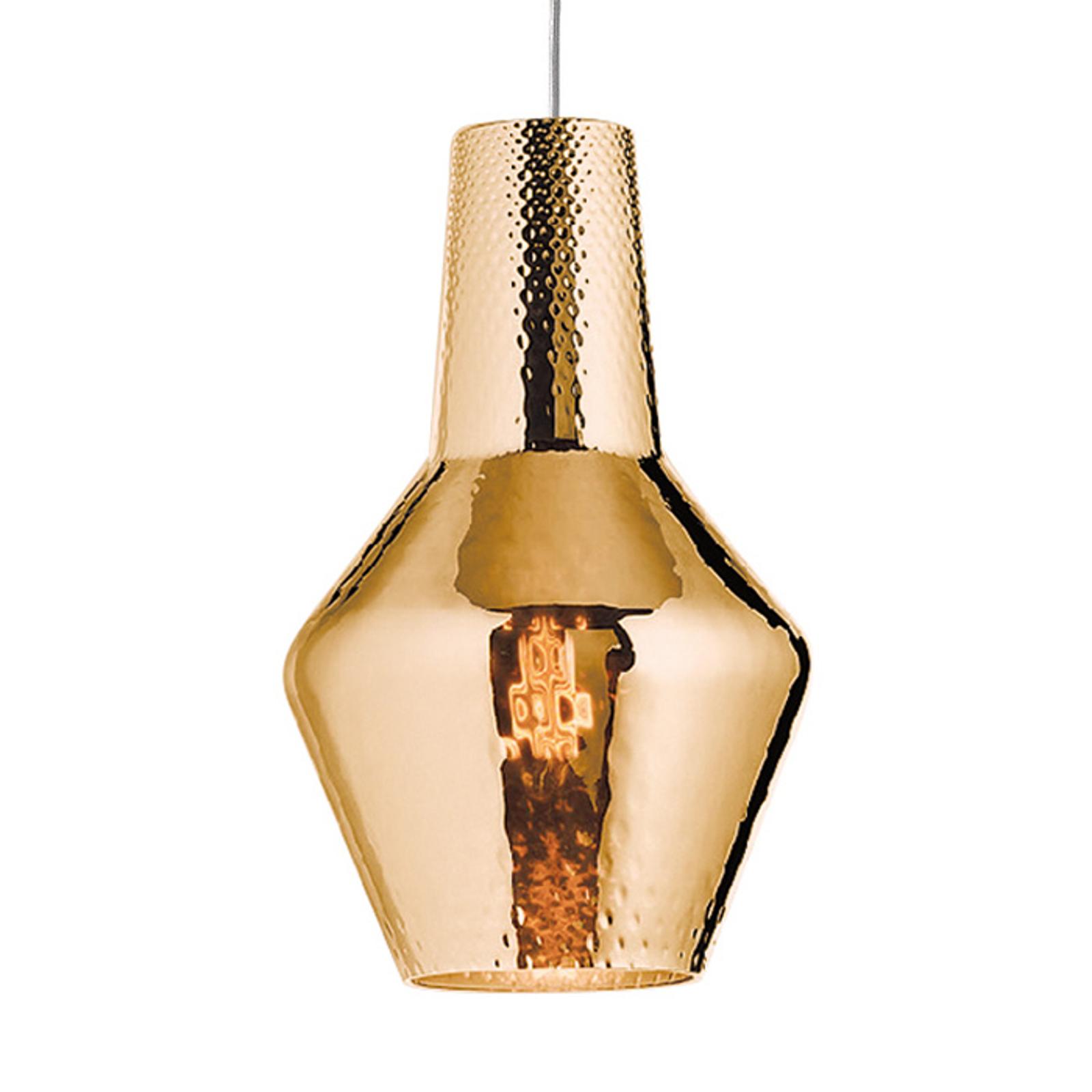 Lampa wisząca Romeo, 130cm, stare złoto metalik