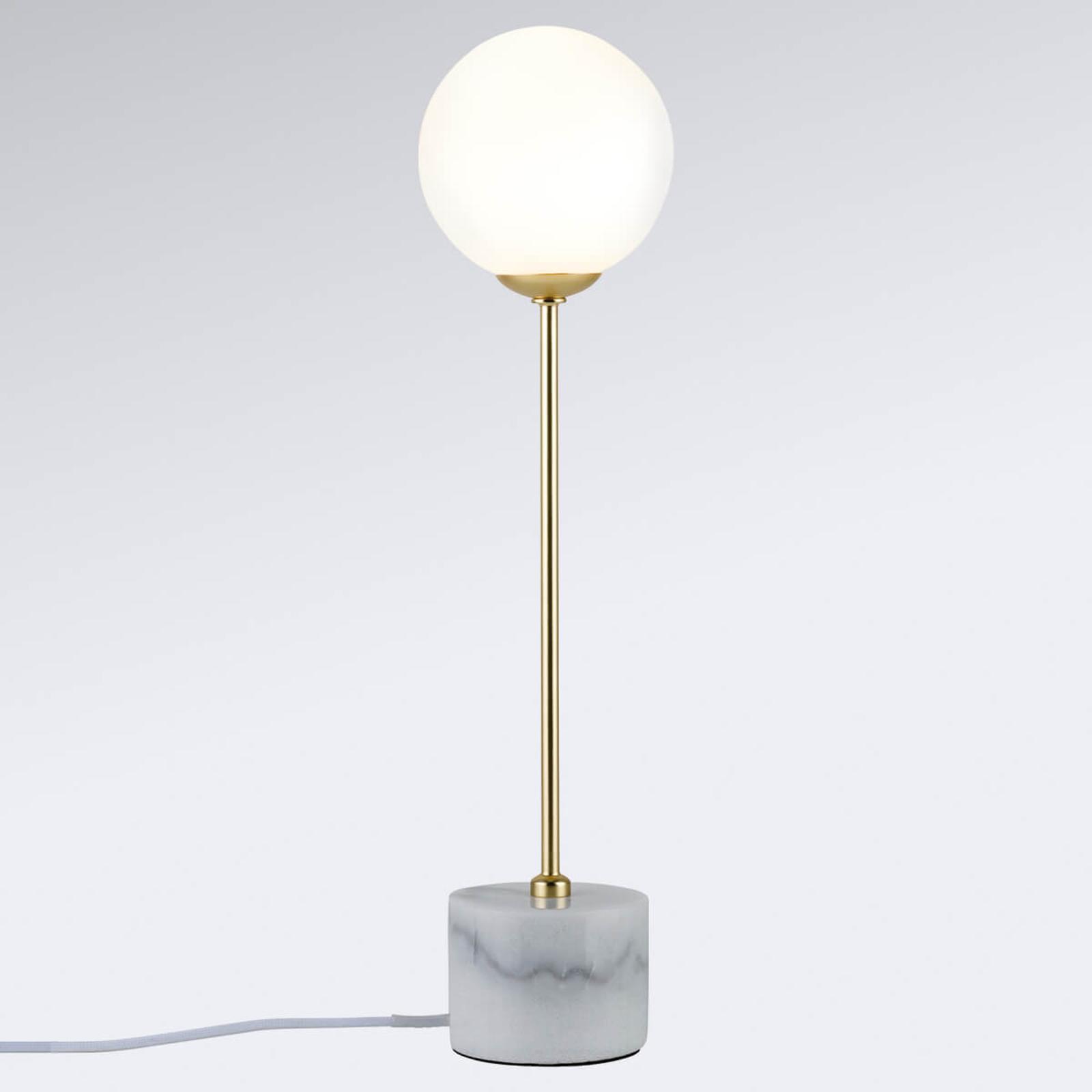 Lampada da tavolo Moa con base in marmo