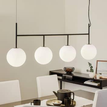 Menu TR Bulb sospensione LED 4 luci nero/opale