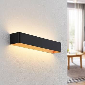 Arcchio Karam LED-Wandleuchte, 53 cm, schwarz
