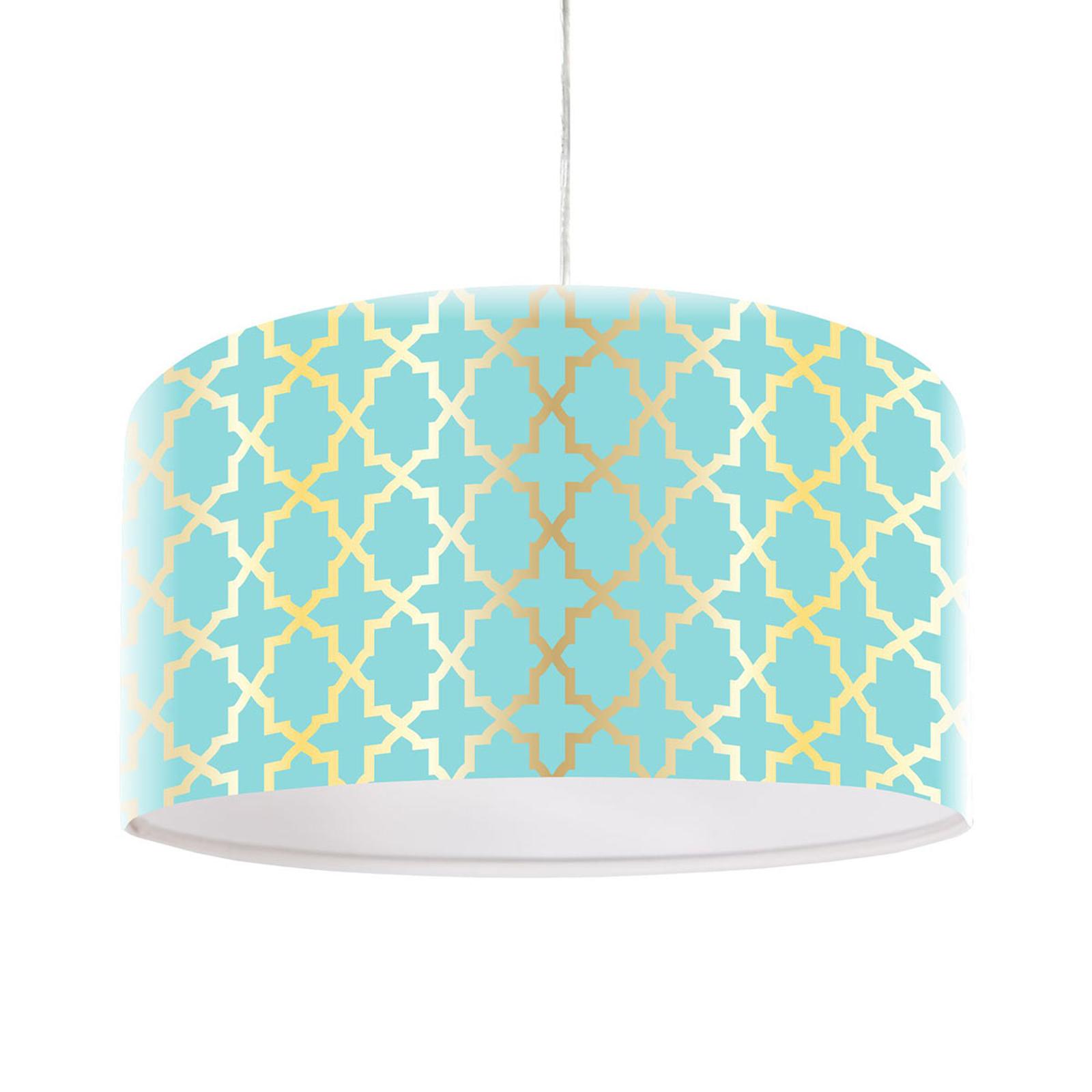 Lampa wisząca Tatyana z geometrycznym wzorem