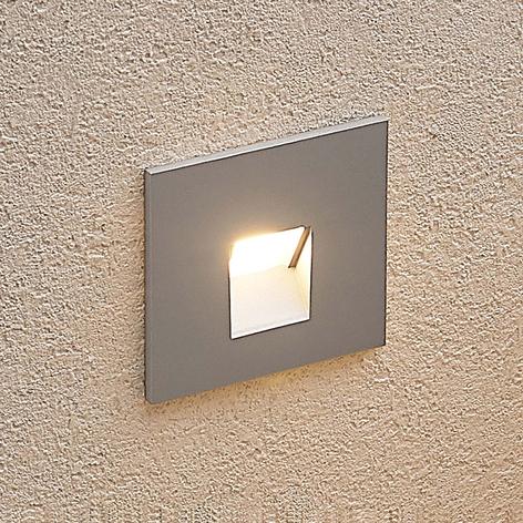 Arcchio Vexi LED-Einbaulampe, eckig, silber