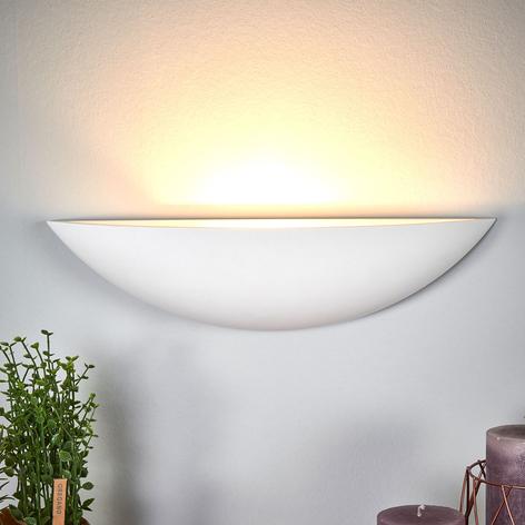 Schalenförmige Gips-Wandlampe Guilia