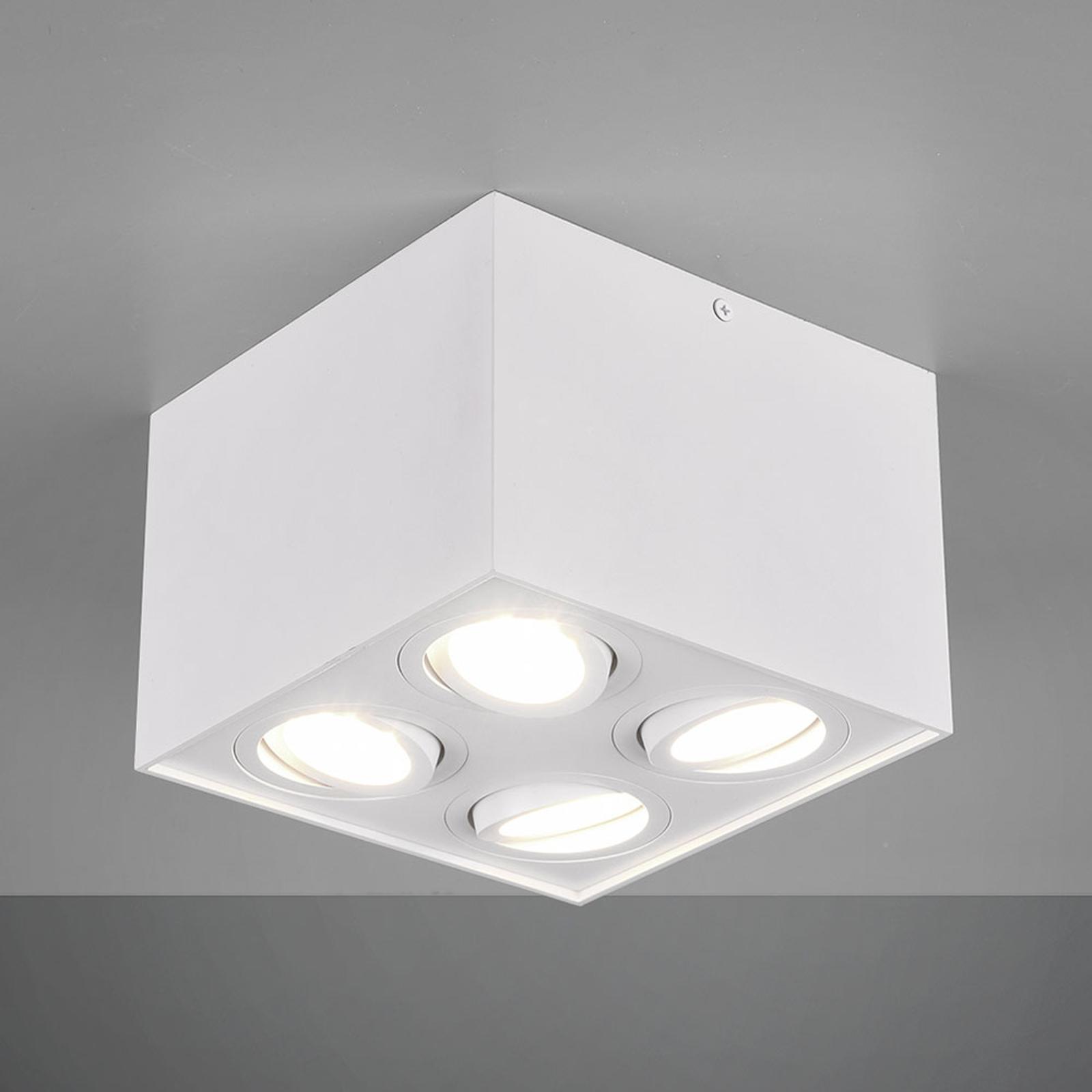 Loftlampe Biscuit, 4 lyskilder, hvid