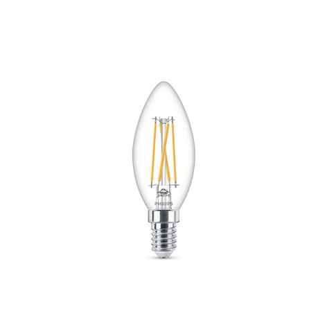 Philips bombilla vela LED E14 3,2W 827 WarmGlow