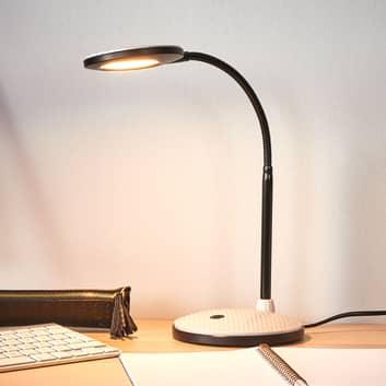 Lampka biurkowa LED Ivan, jasnoszary iczarny