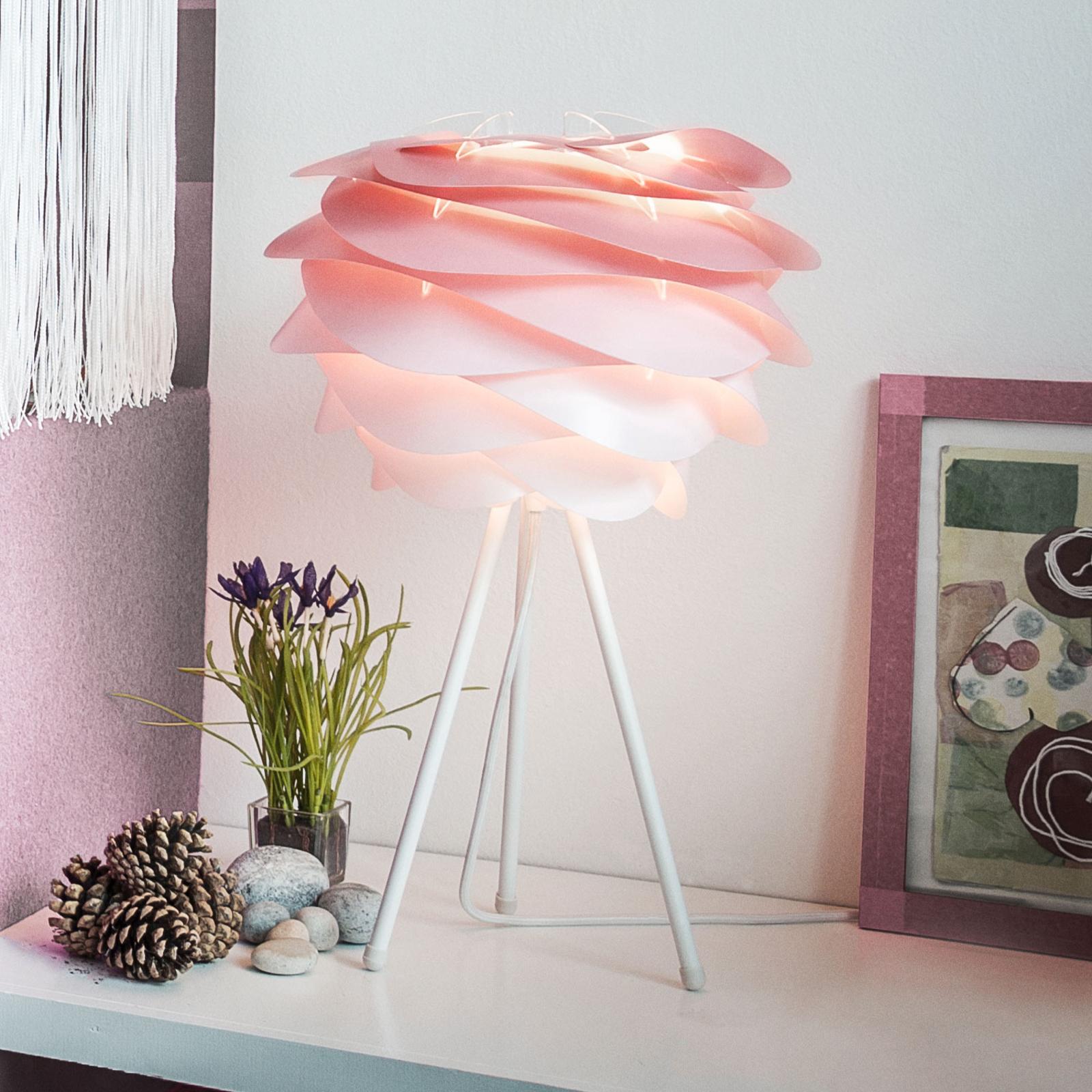 UMAGE Carmina Mini tafellamp roze/tripod wit