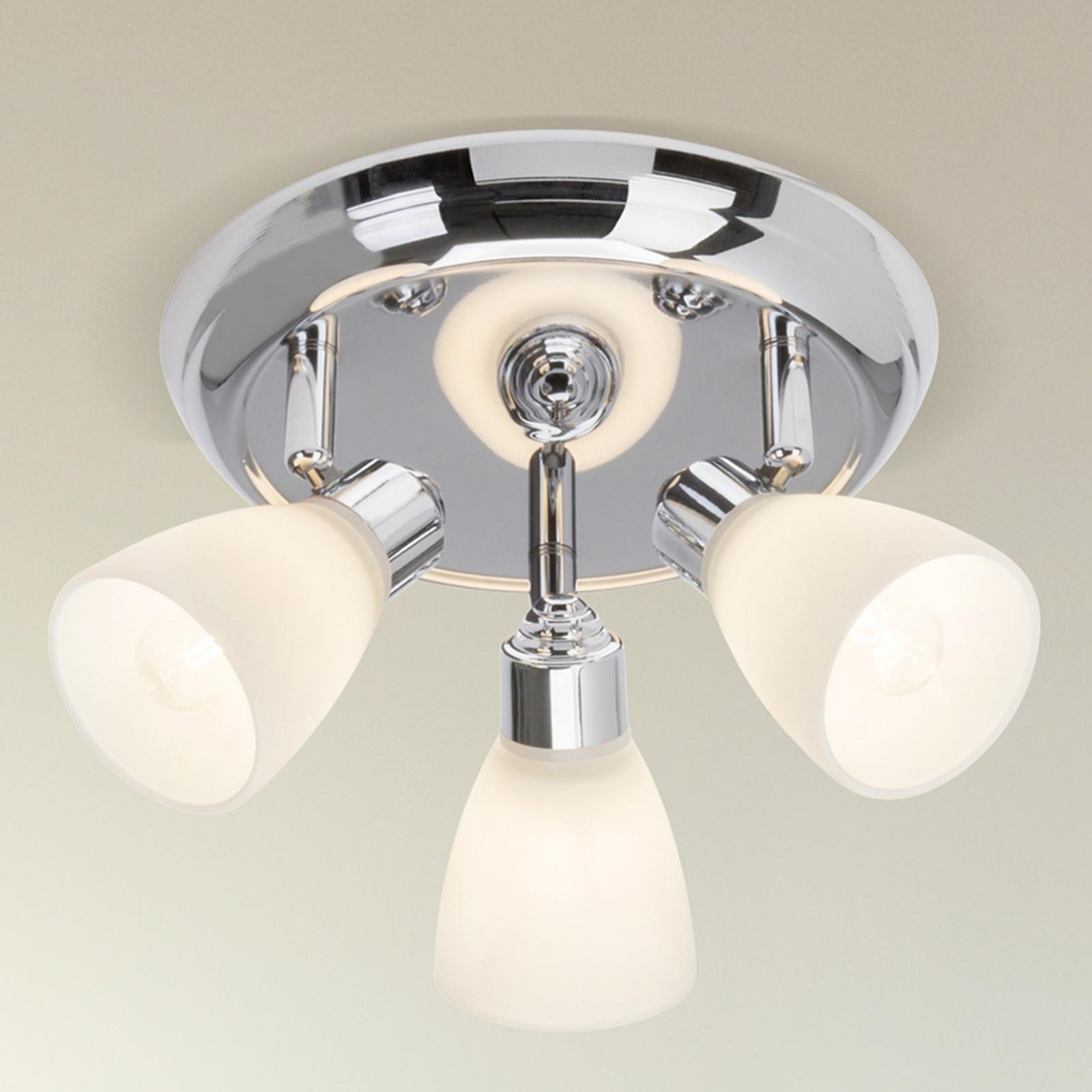 Kensington - loftlampe, krom med tre lyskilder