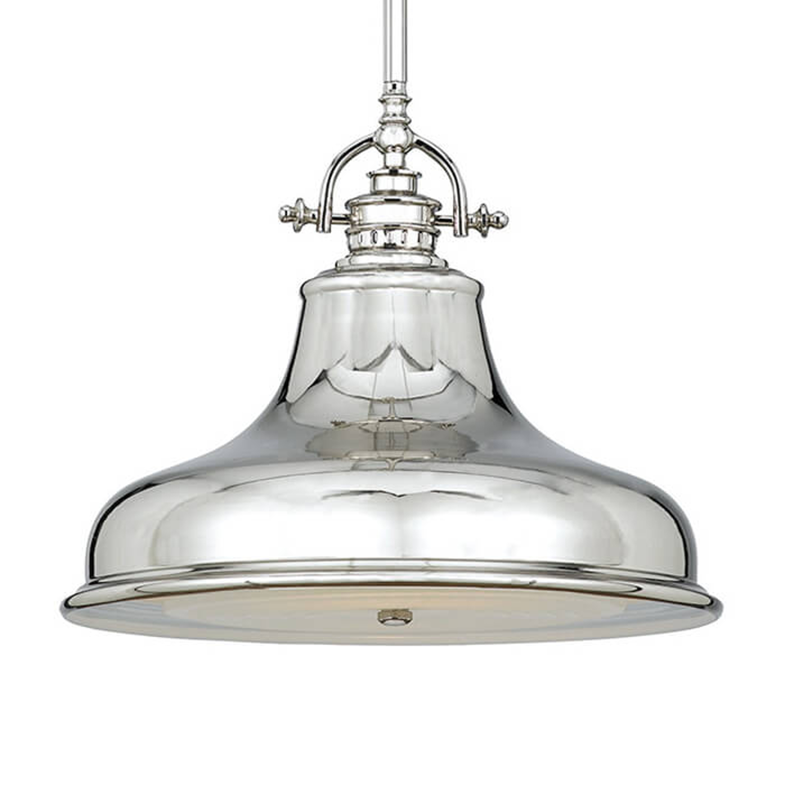 Lampada sospensione Emery 1 luce argento Ø 34,3 cm
