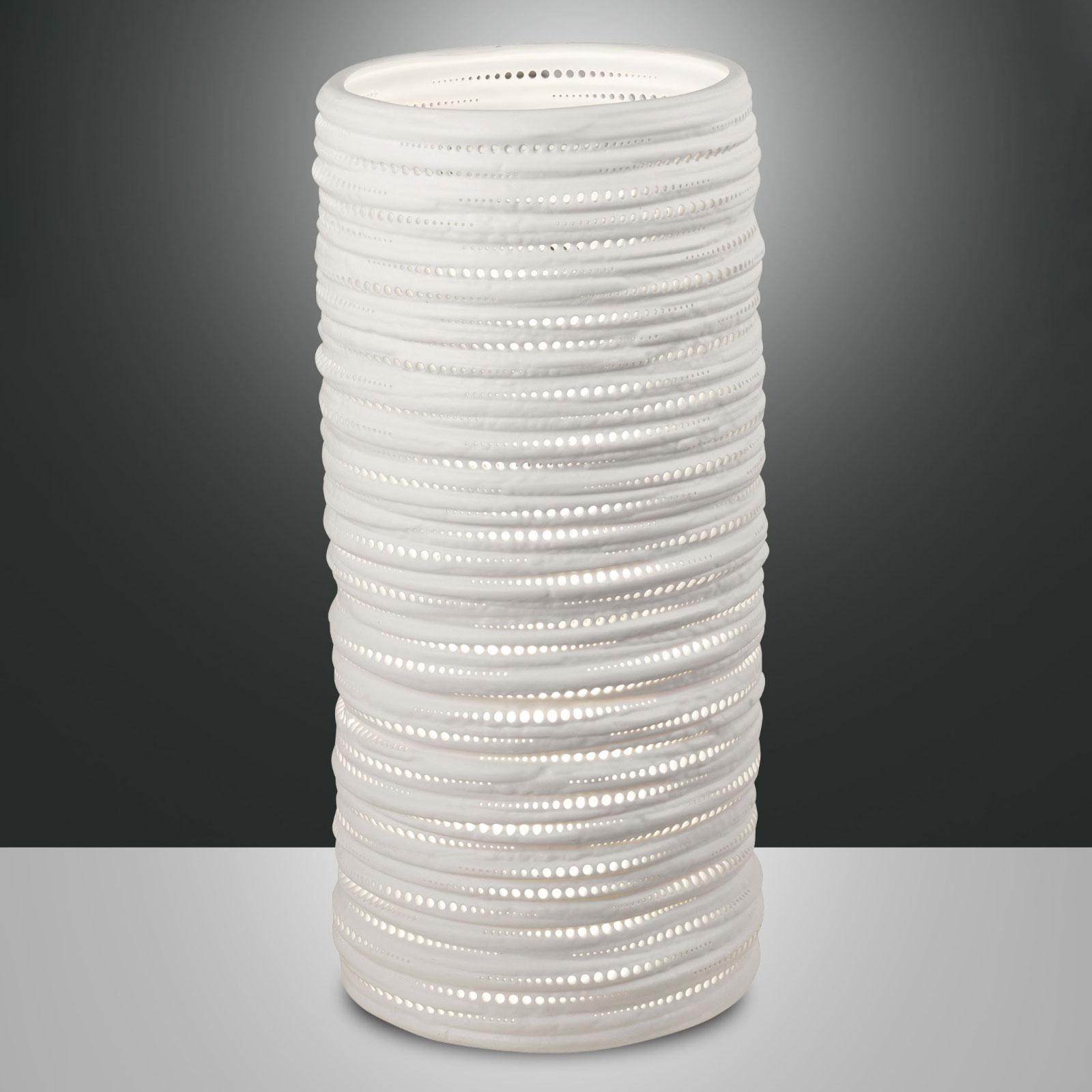 Tischleuchte Marbella aus Keramik, Höhe 37 cm