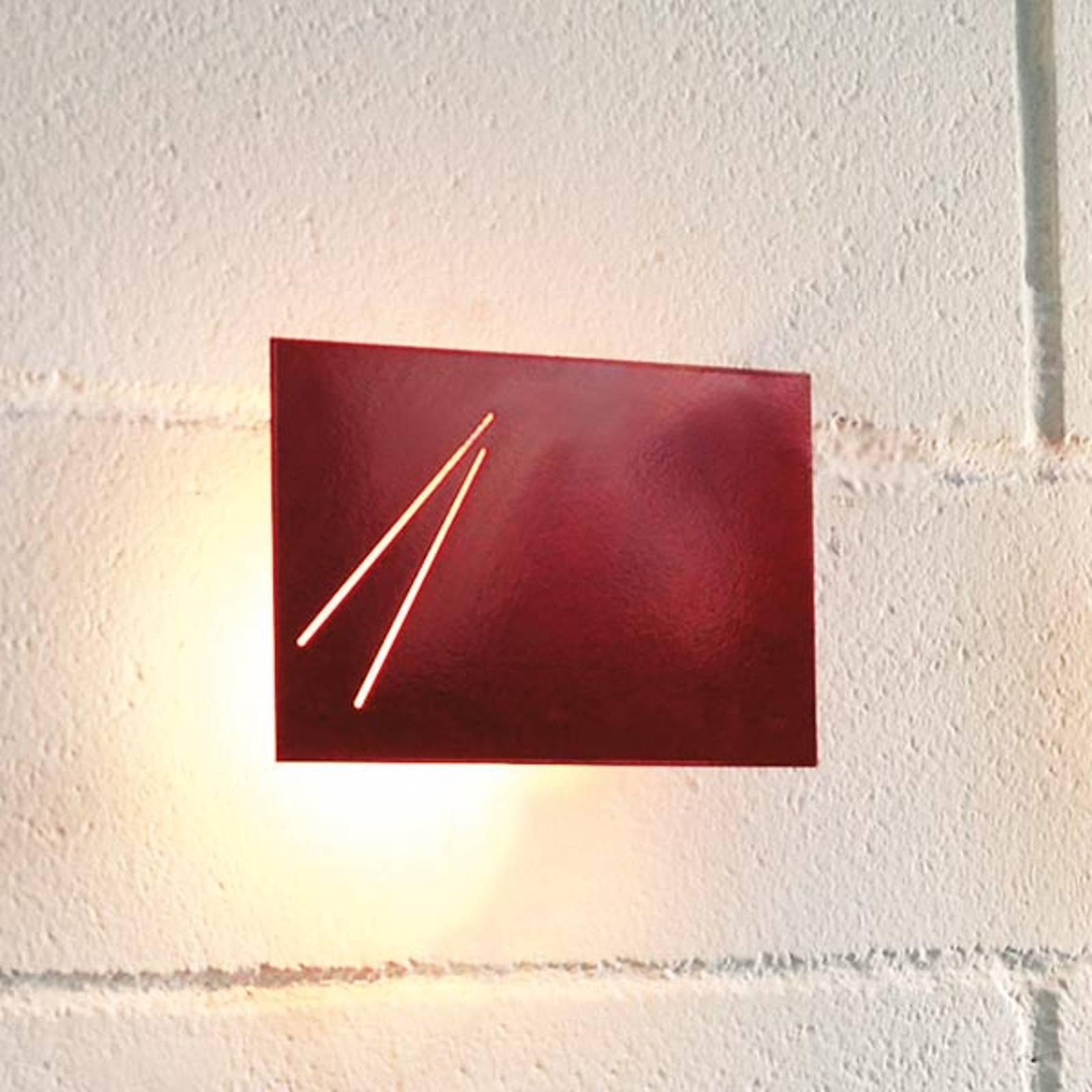 Des.agn - Italiaanse designer wandlamp, rood