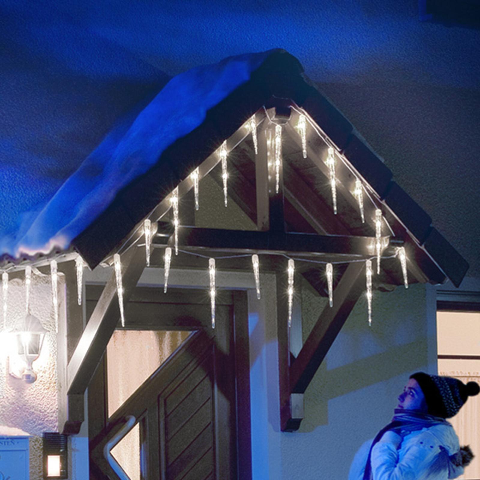 LED-istapper lysforheng med 32 istapper, 7,75 m