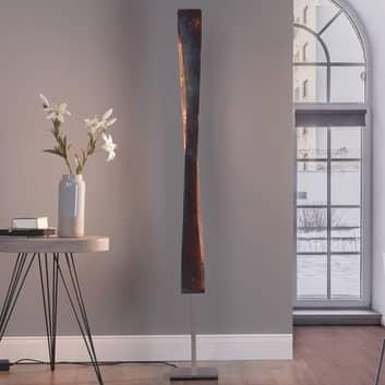 Lucande Lian LED vloerlamp, goud geoxideerd