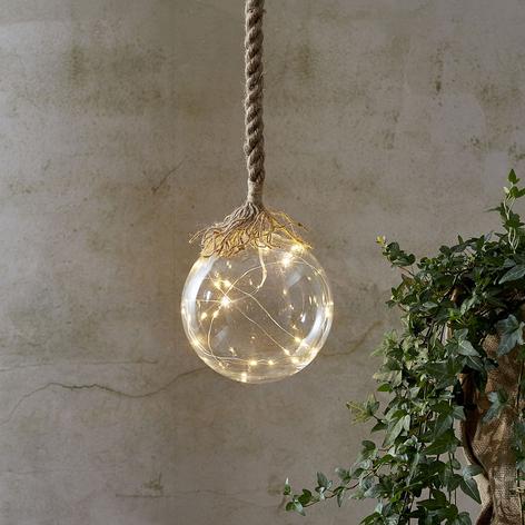 Lampada decorativa LED Jutta con vetro sferico