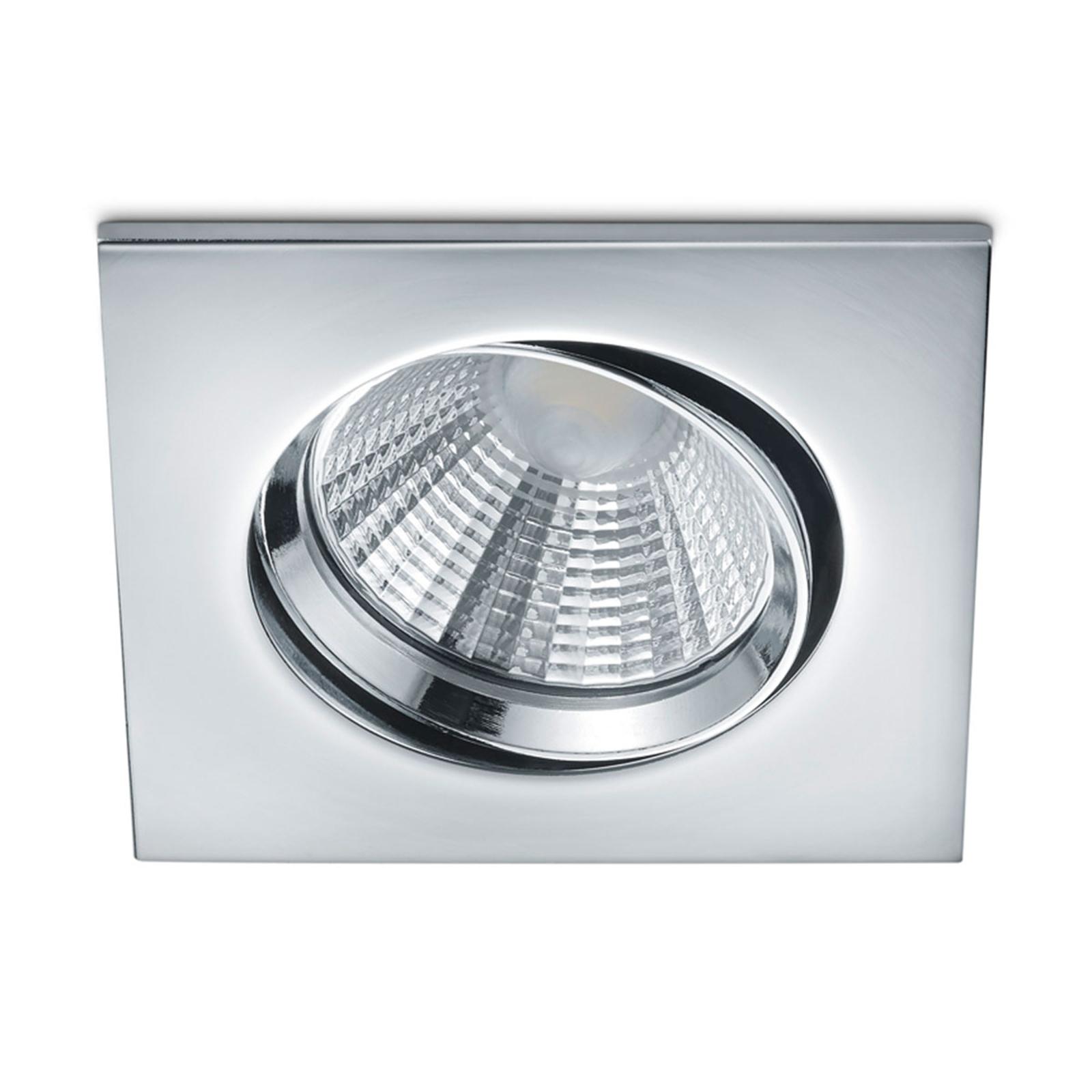 Dimbare LED inbouwspot Pamir in chroom