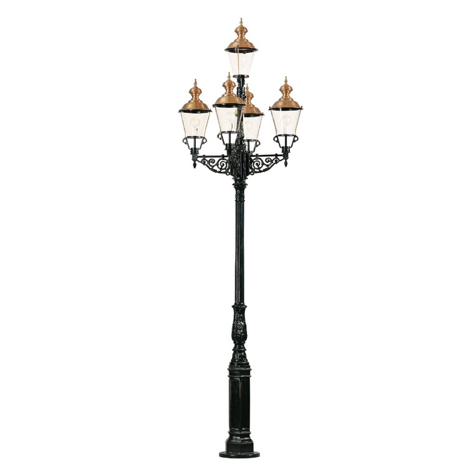 Representatieve lantaarnpaal Monaco 5-lamps