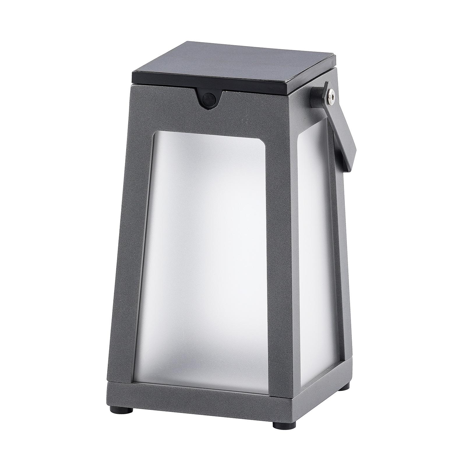 LED-Solarlaterne Tinka tragbar, grau