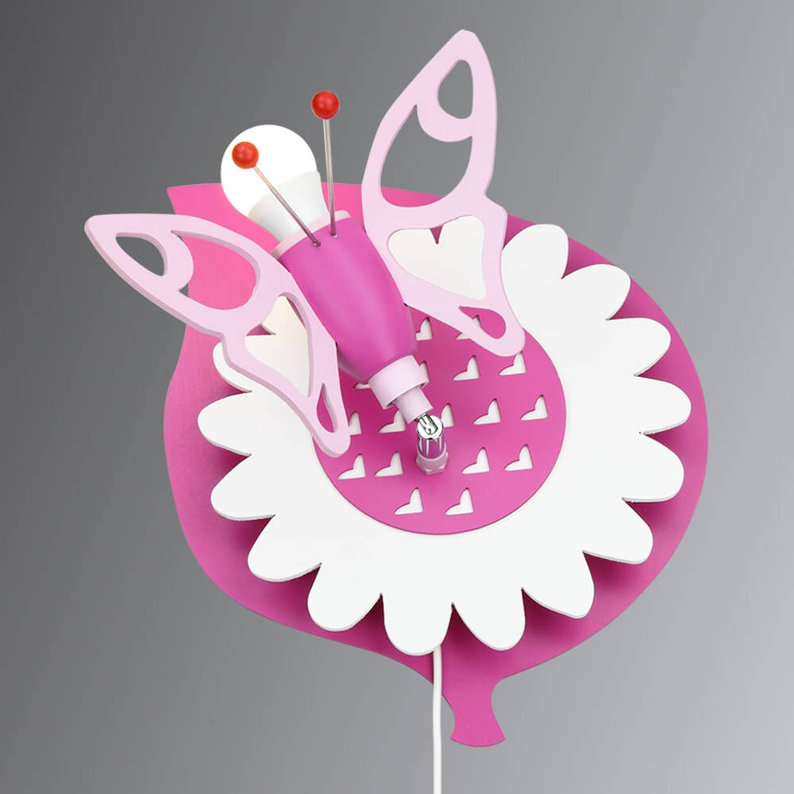 Wandlamp Vlinder voor kinderkamer, 1-lamp