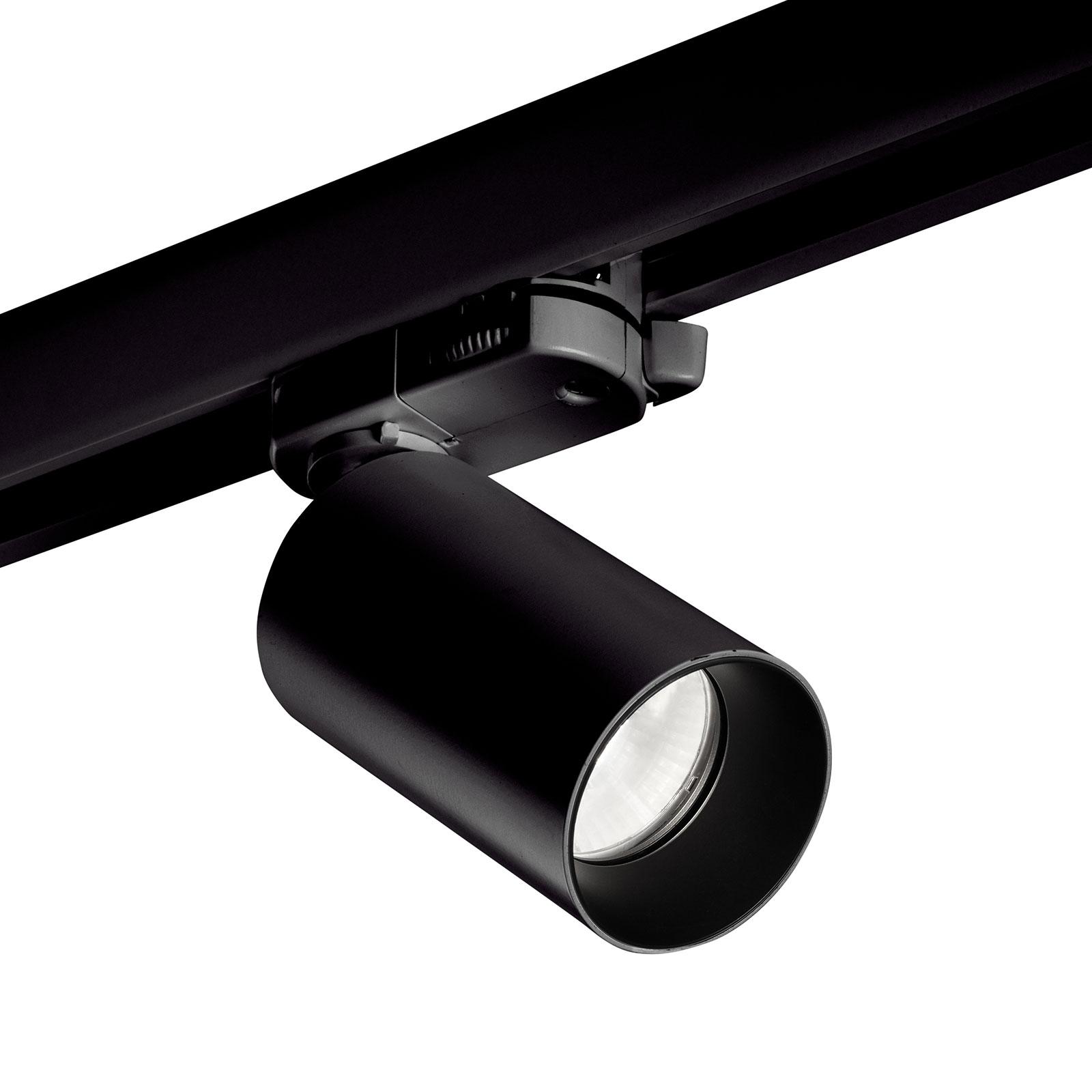 LEDS-C4 Atom spot HV-rail, zwart, 3.000K, 43°