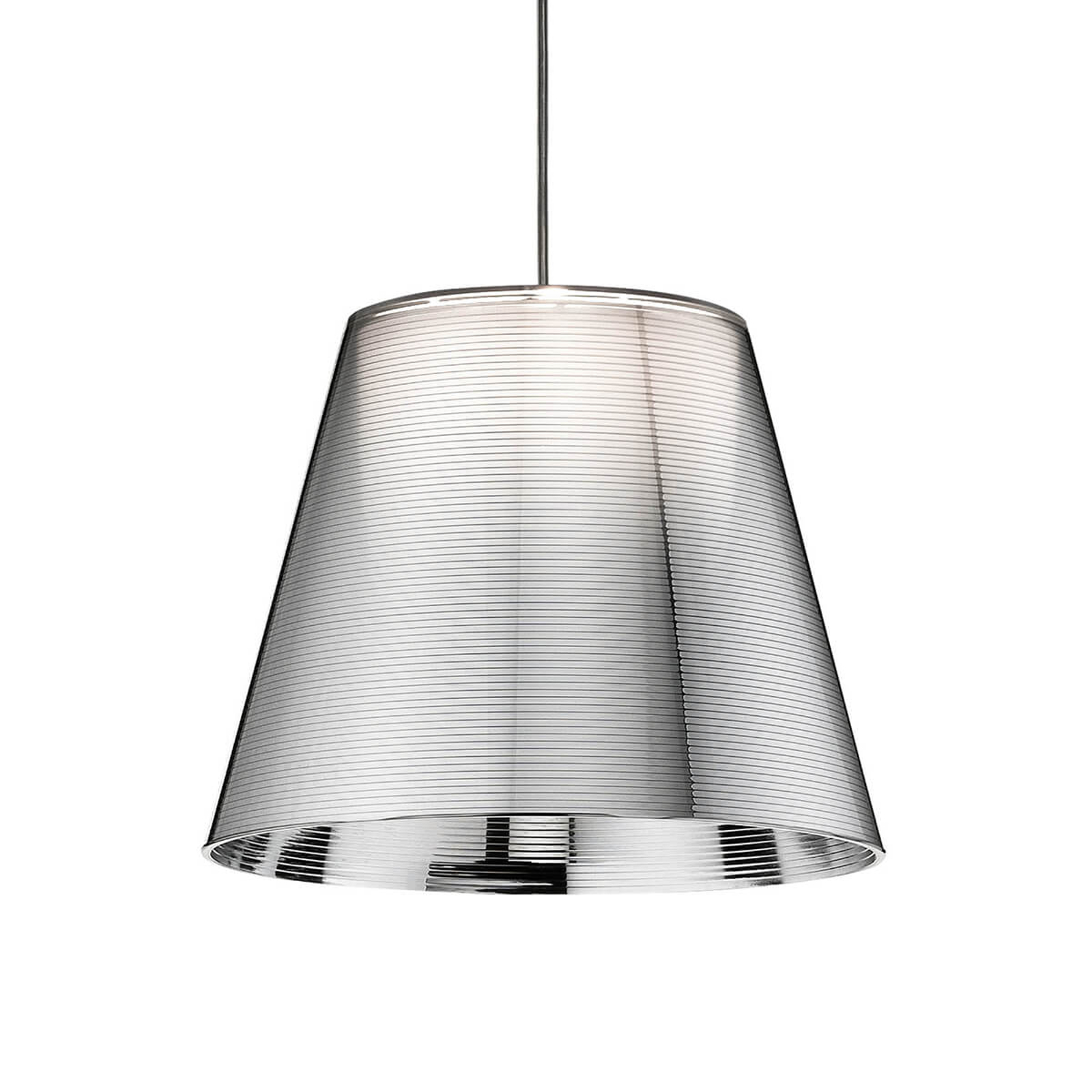 FLOS KTribe S1 závesná lampa, strieborná