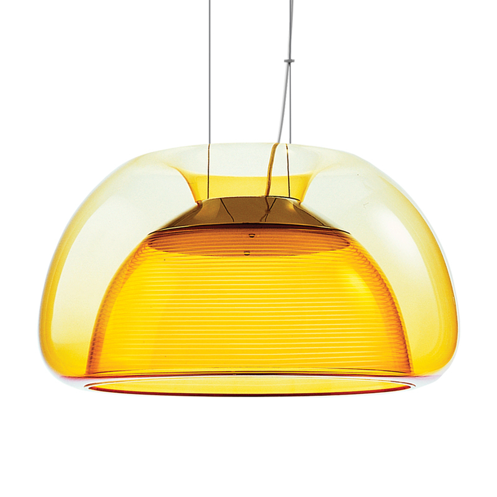 Suspension LED Aurelia colorée, orange
