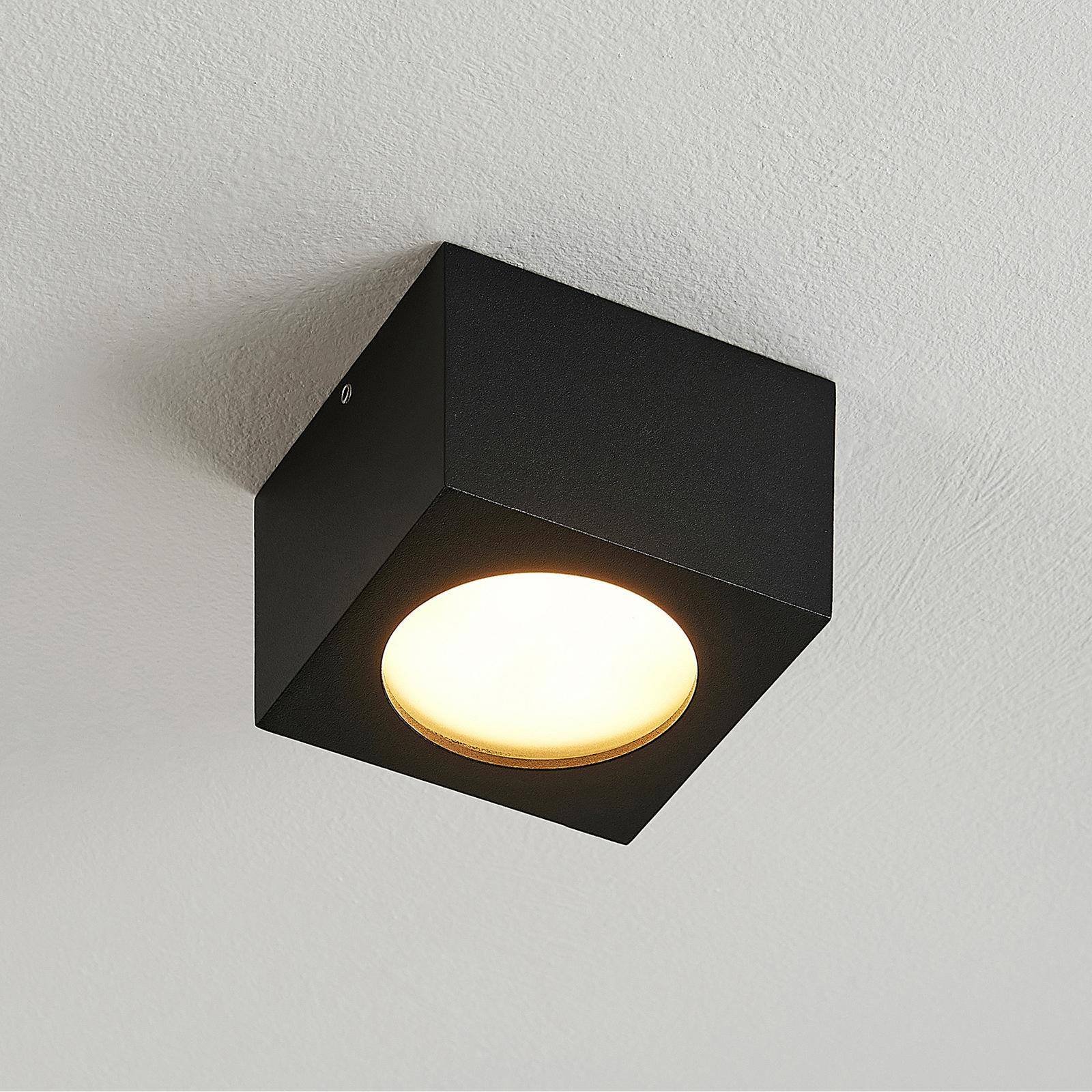 Arcchio Nieva Downlight, GX53, eckig, schwarz