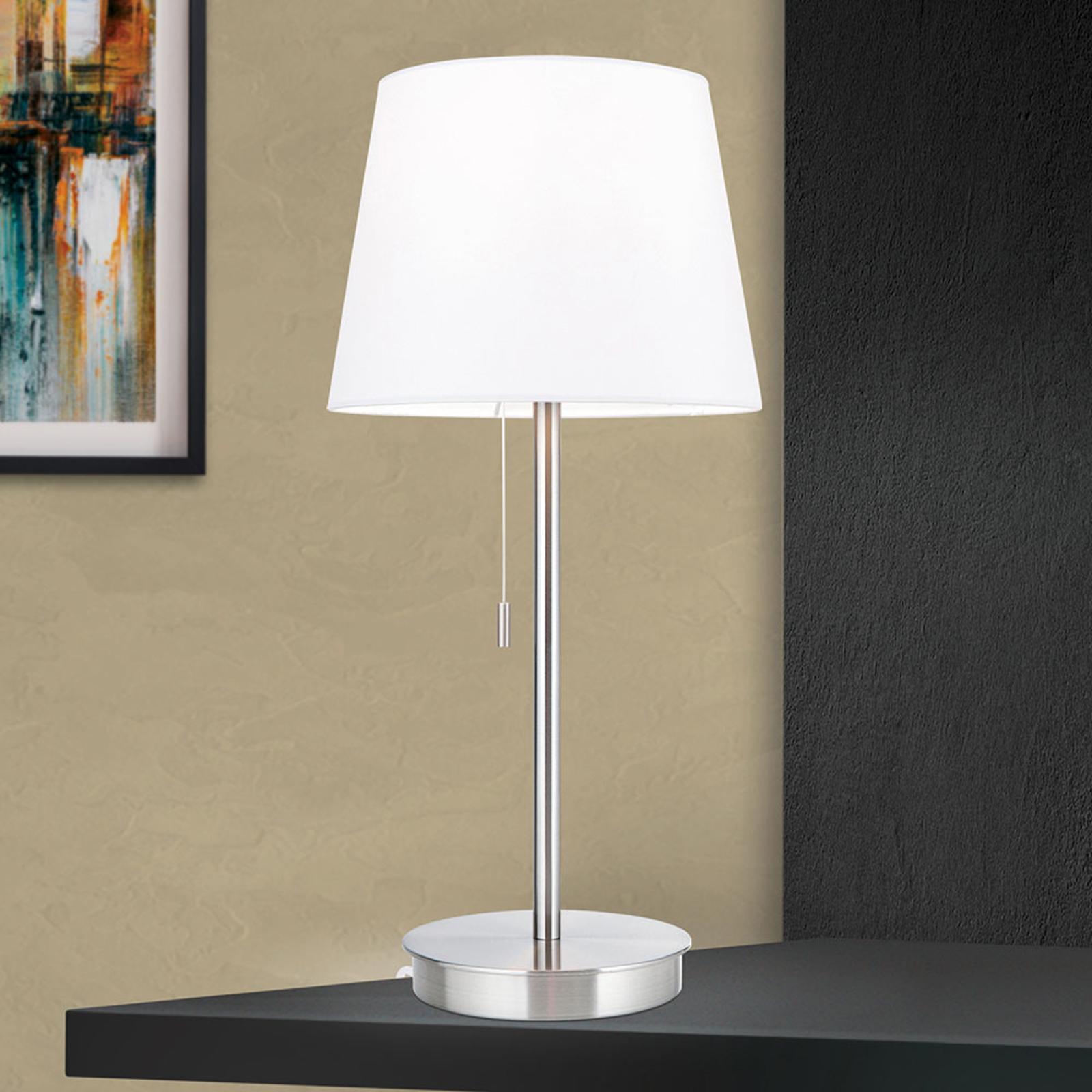 Pöytälamppu Ludwig, USB-liitäntä valkoinen/nikkeli