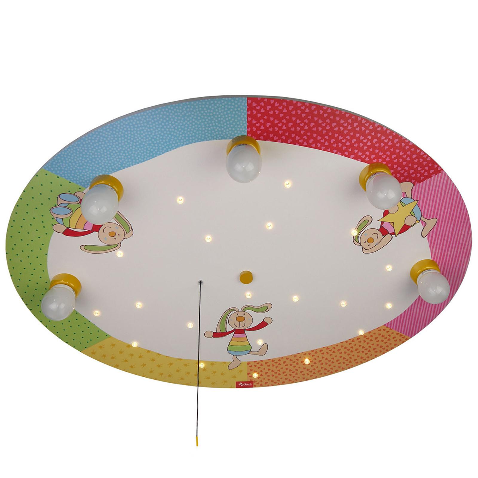 Rainbow Rabbit - rund taklampa med LED-lampor
