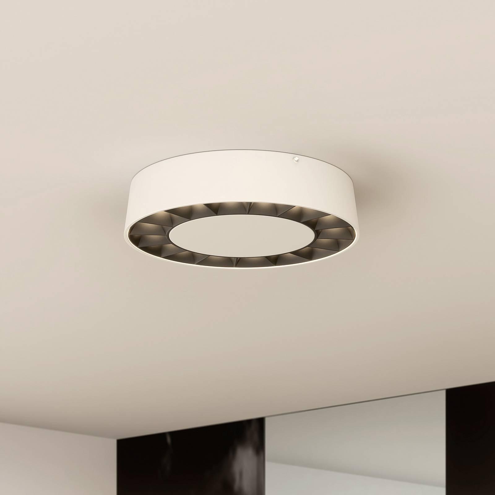Lucande lampa sufitowa LED Kelissa biała okrągła