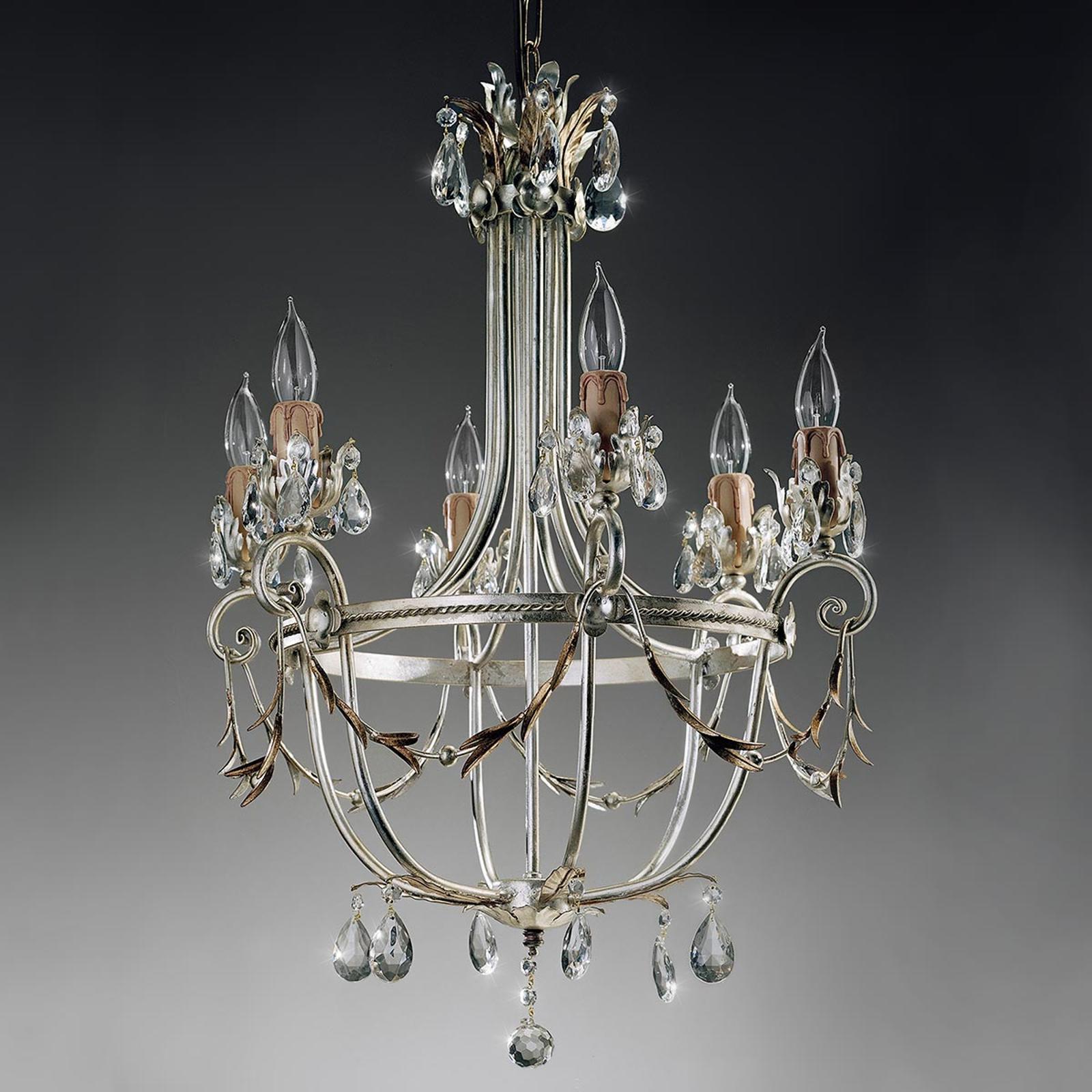 Mecca florentisk lysekrone, 6 lyskilder