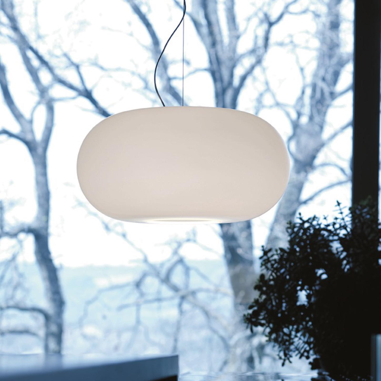 Prandina Over S5 lampa wisząca, biała, Ø 42 cm