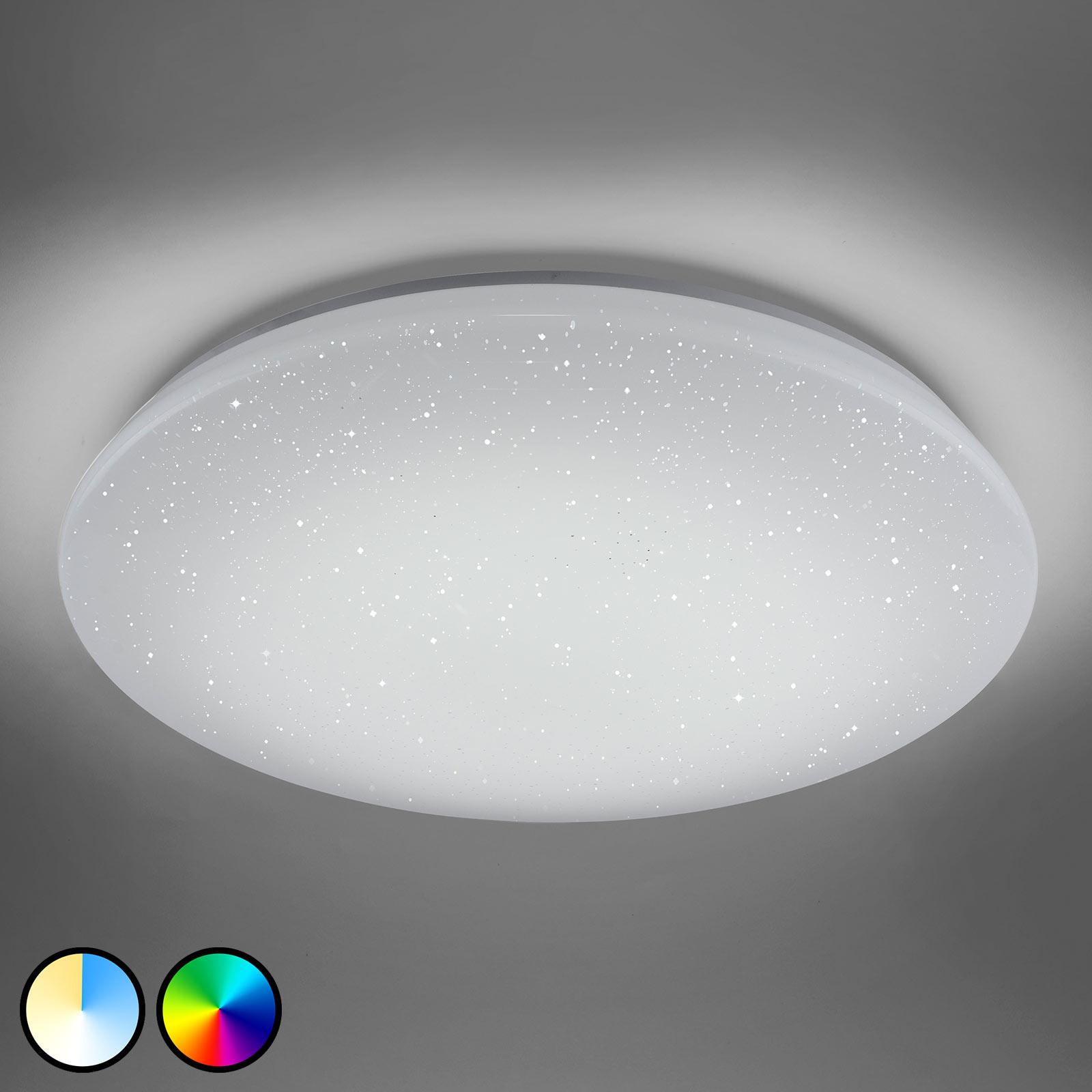 Trio WiZ Charly LED-Deckenlampe mit Kristalleffekt