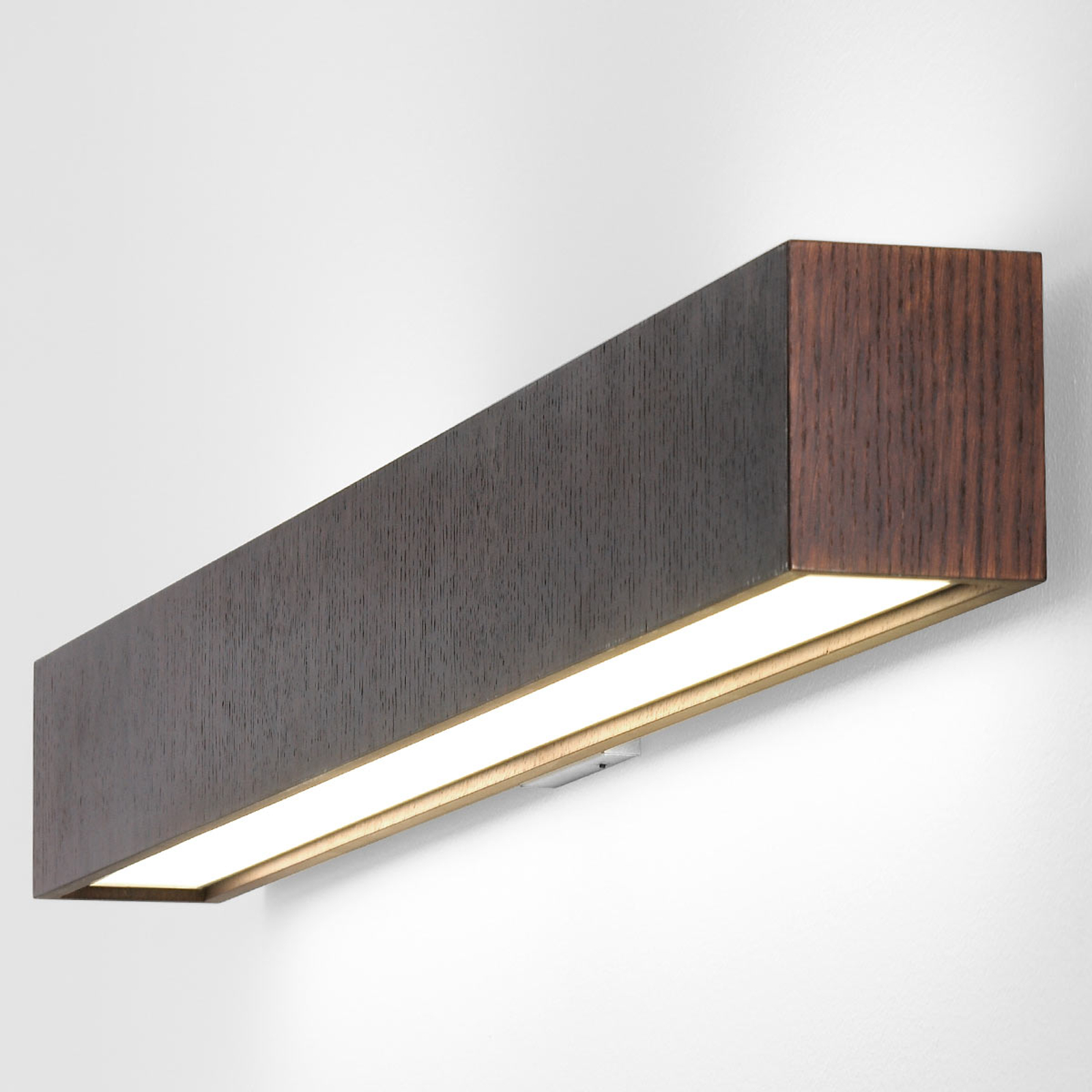 Lange LED-Wandleuchte Quadrat W wenge