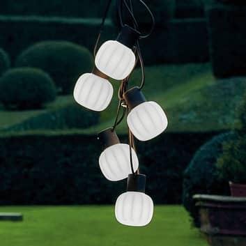 Martinelli Luce Kiki -ulkovaloketju, 5-lamppuinen