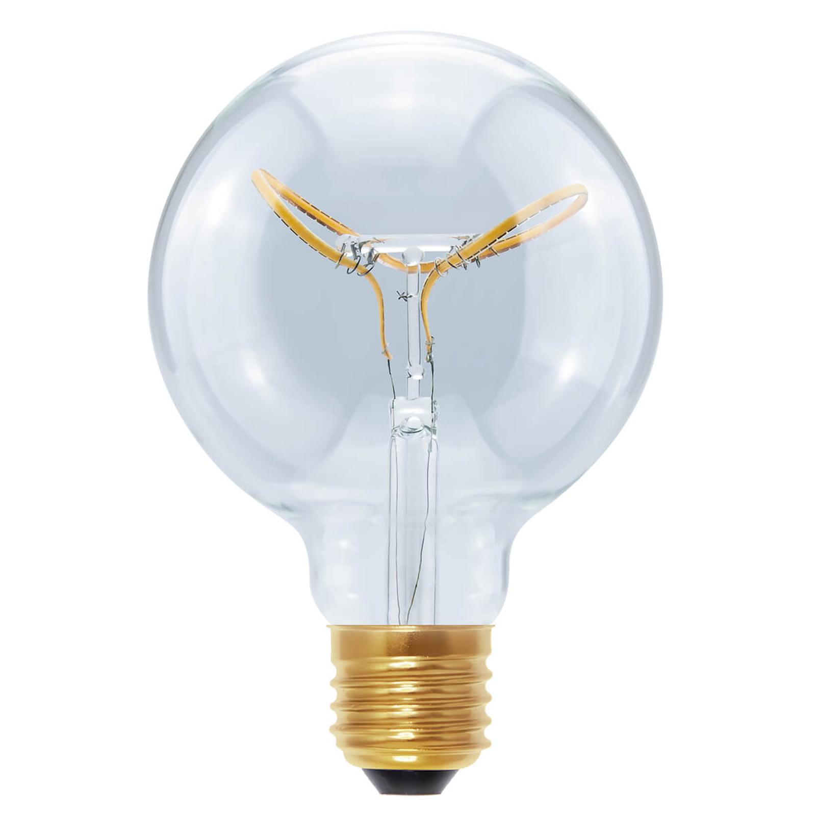 E27 8 W 922 LED Globe Curved Butterfly klar G95