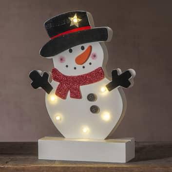 Lampada LED Freddy pupazzo di neve
