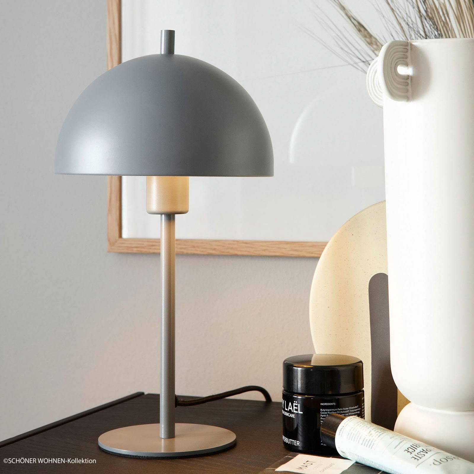 Schöner Wohnen Kia Tischleuchte grau Höhe 34 cm