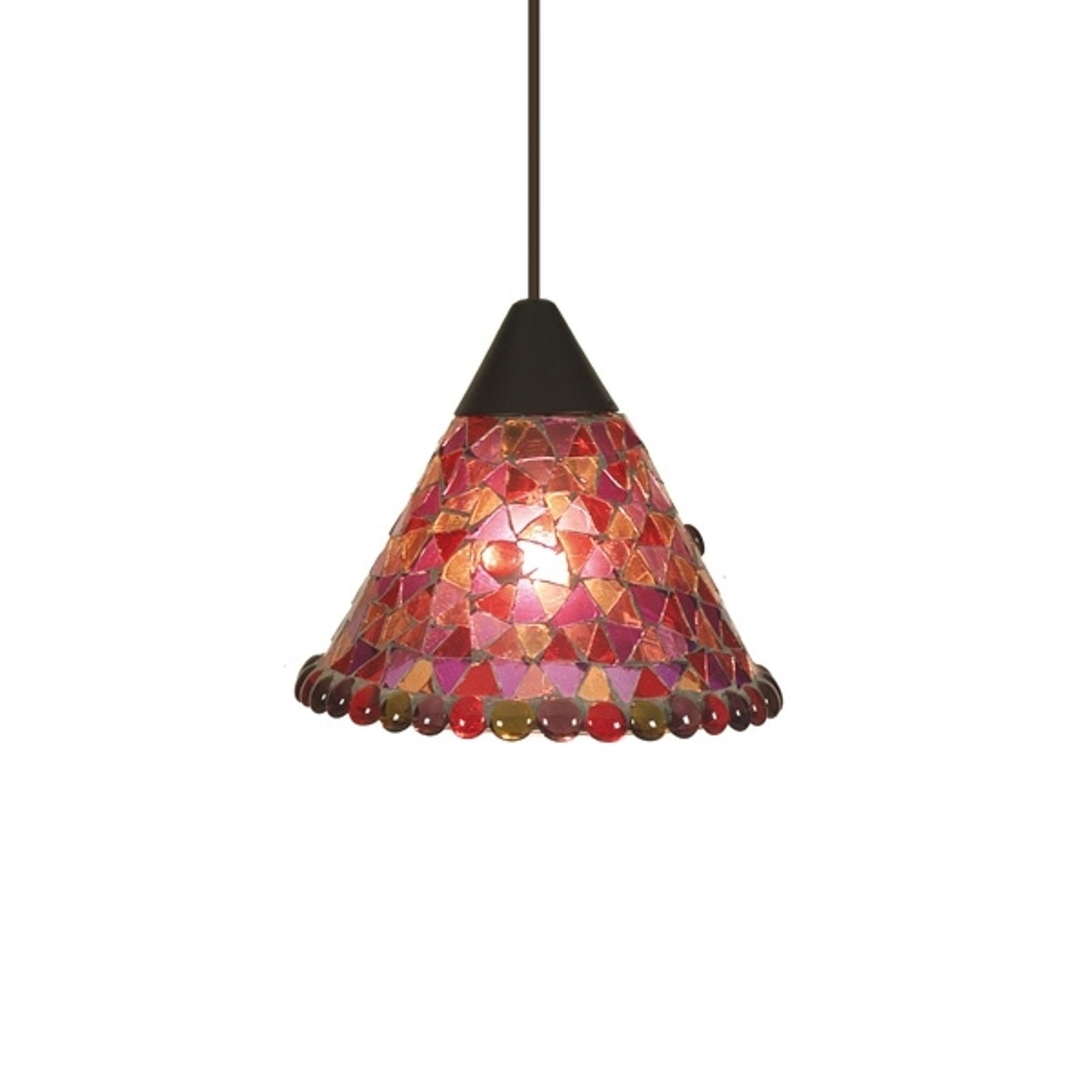 Lampa wisząca Enya Ø 19 cm czerwona