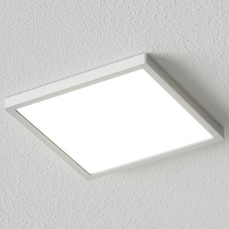 Hranaté LED stropní svítidlo Solvie, stříbrné