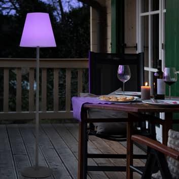 Lámpara de pie solar LED Menorca cambio color IP44