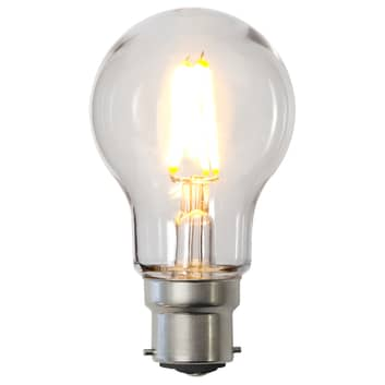 Bombilla LED B22 A55 2,4W de policarbonato, clara