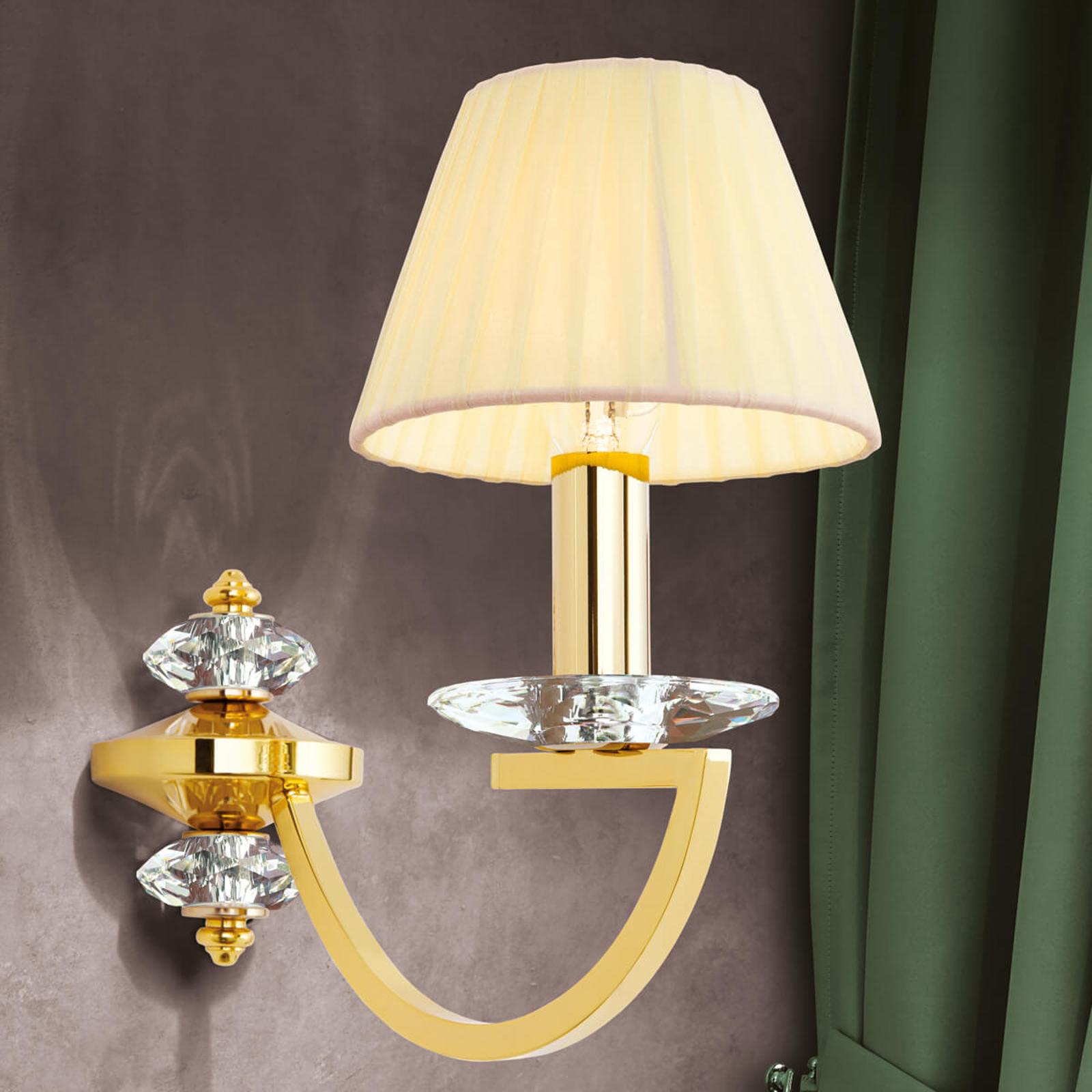 Uitstekende wandlamp Avala van massief messing