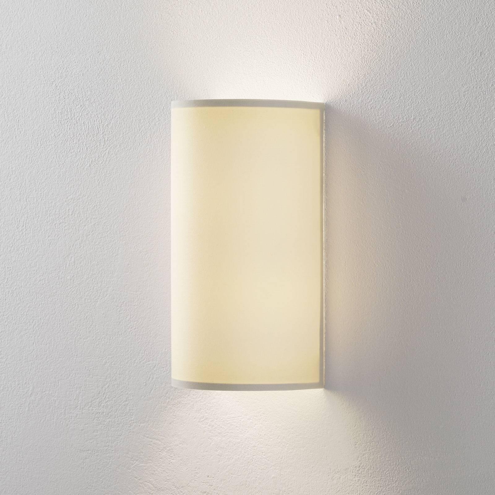 Lucande Patrik wandlamp halfrond hoogte 30cm crème