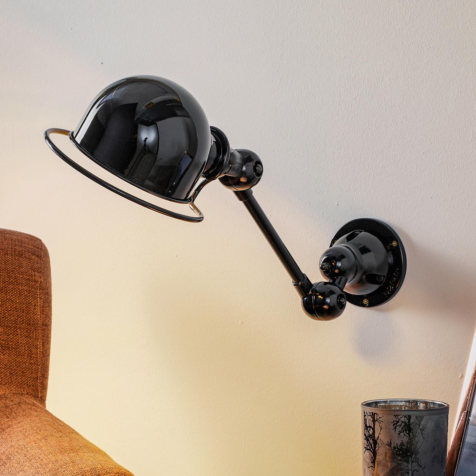 Jieldé Loft D2501 - säädettävä seinälamppu, musta