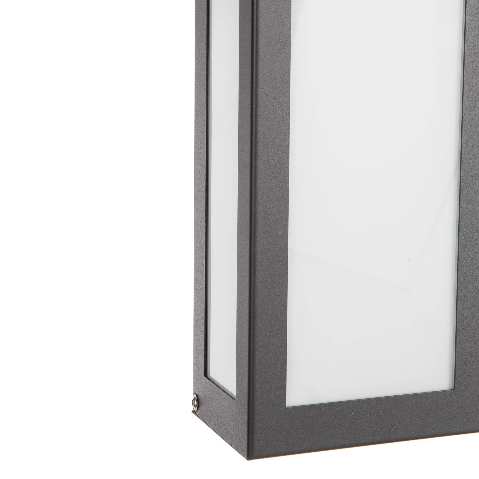 Applique LED à capteur Aqua Rain, anthracite
