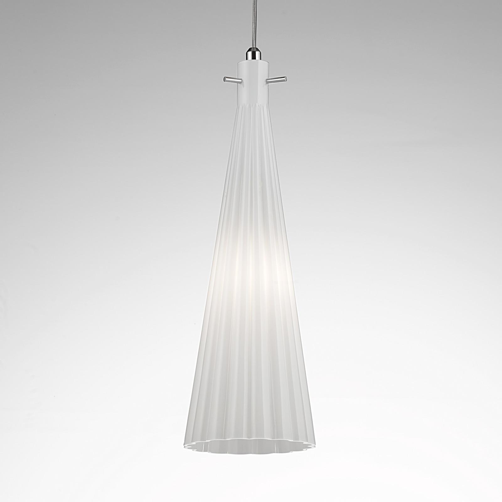 Lampa wisząca Costa Rica ze szkła, biała
