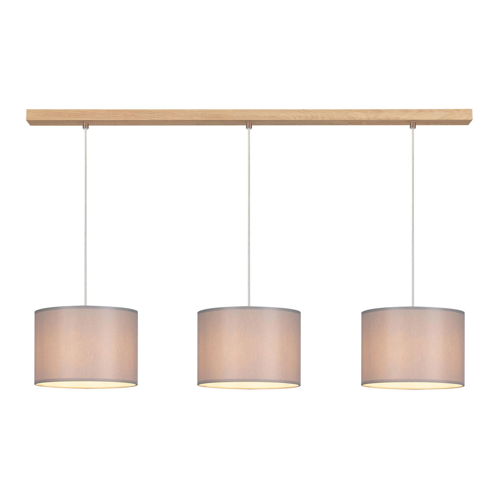 Suspension Corralee grise à 3 lampes