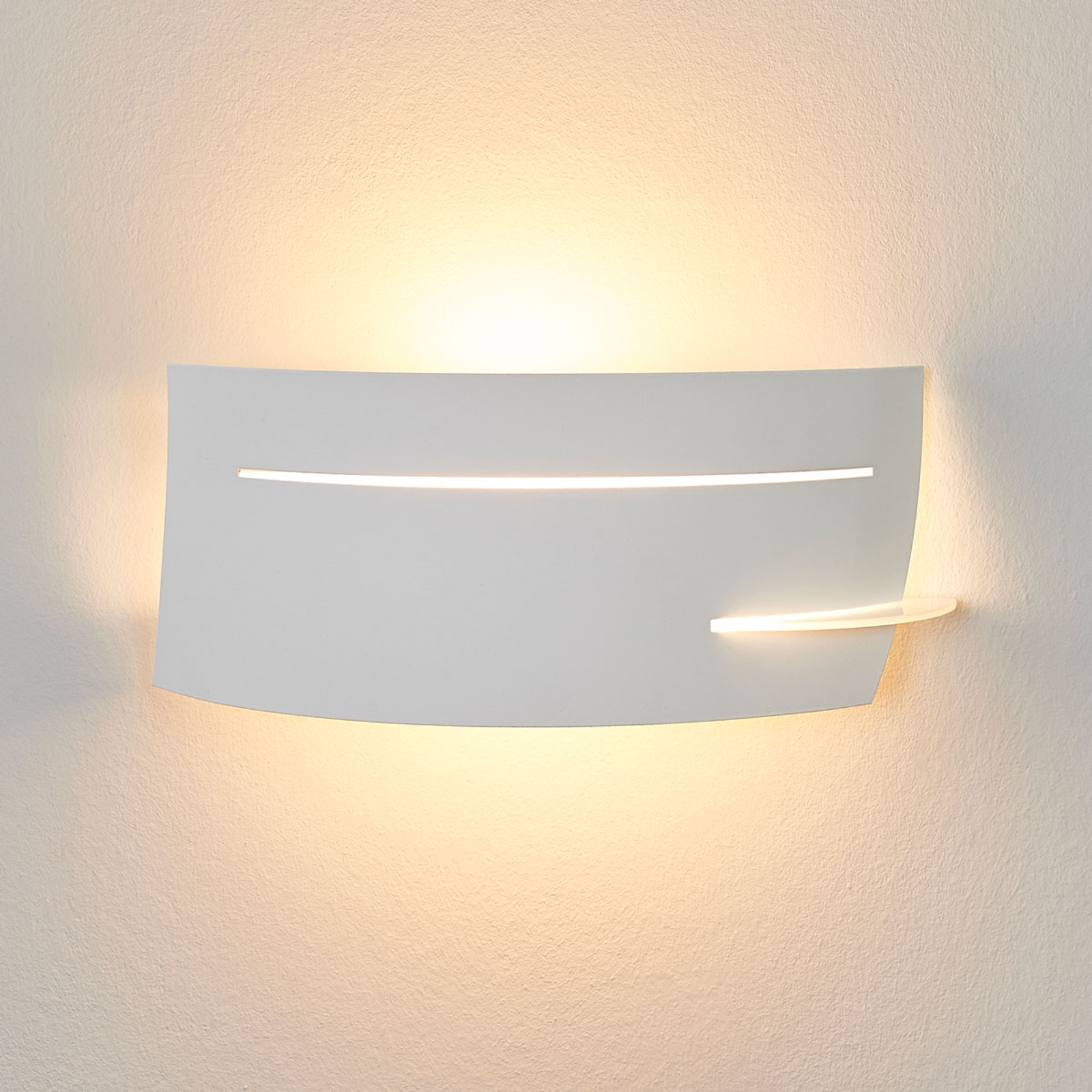Discrete wandlamp Keyron in wit