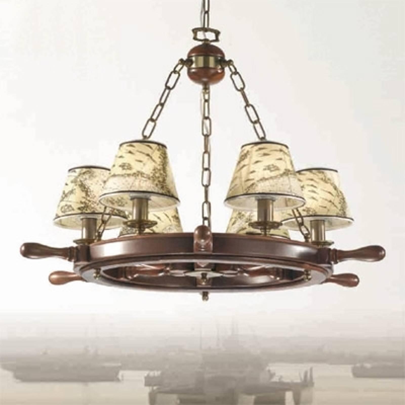 Indrukwekkende kroonluchter Porto 6-lichts
